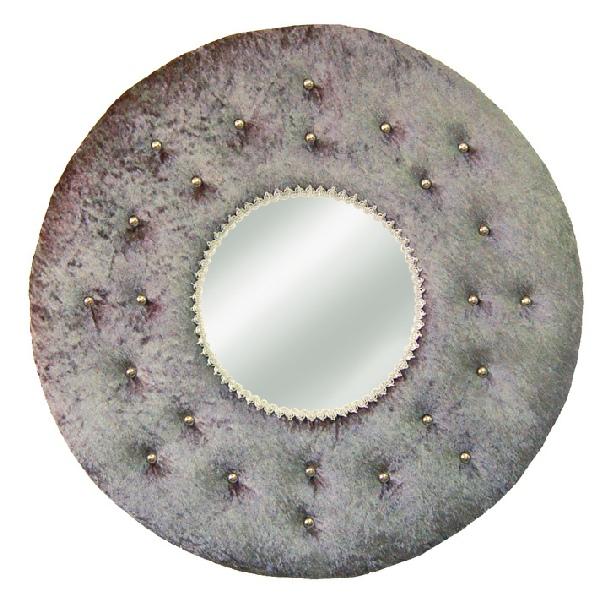 Miroirs for Miroir rond gris